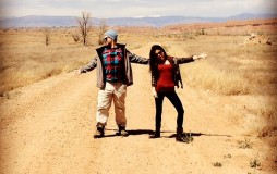 Jack and Dana strutting down a dirt road.....